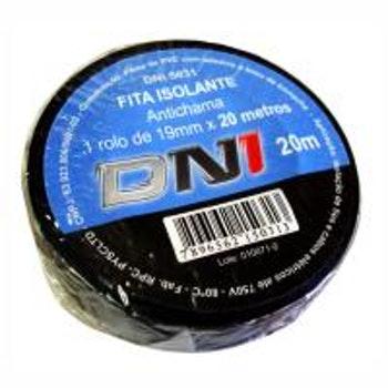 Fita Isolante em PVC Preta 20m - DNI 5031 - DNI - DNI 5031 - Unitário
