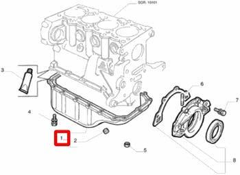 Cárter - Original Fiat - 46745223 - Unitário