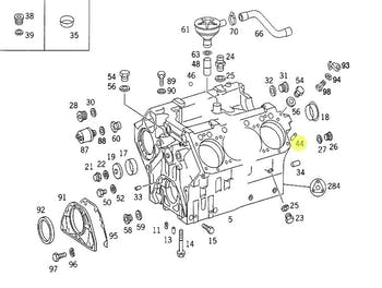 Bucha Centralizadora do Bloco do Motor - Original Mercedes-Benz - A1079910041 - Unitário