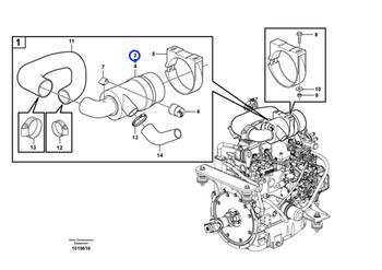 Filtro de Ar do Motor - Volvo CE - 11850366 - Unitário