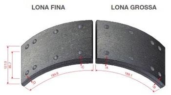Lona de Freio - Duroline - 4524-B - Par