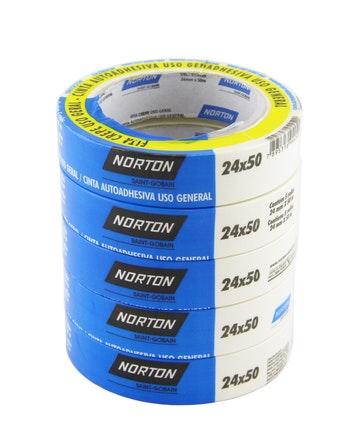 Fita crepe uso geral sanfona 24mmx50m - Norton - 66254482103 - Unitário
