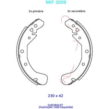 Sapata de Freio - Nakata - NKF 3009 - Par
