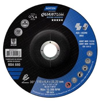 Disco de desbaste BDA 680 - 115x6,4x22,23mm - Norton - 66252841271 - Unitário