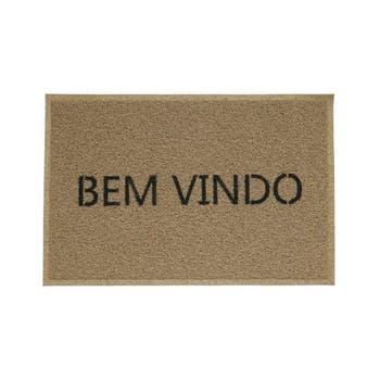 Capacho BEM-VINDO VINIL - BEGE - Kapazi - 01730502 - Unitário