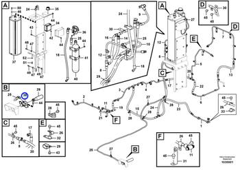 Mecanismo Liberador - Volvo CE - 15151617 - Unitário