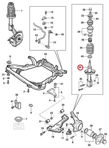 Amortecedor - Original Chevrolet - 93316147 - Unitário