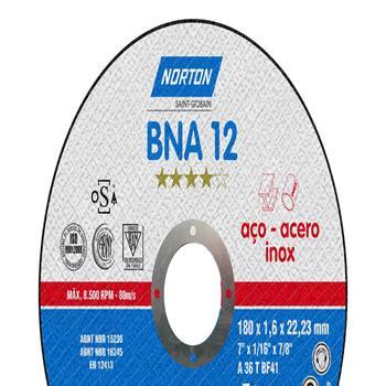 Disco de corte BNA 12 - 115x1,0x22,23mm - Norton - 66252843679 - Unitário