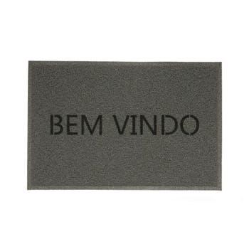 Capacho BEM-VINDO VINIL - CINZA - Kapazi - 01730102 - Unitário