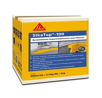 SikaTop-100 Argamassa Polimérica 4kg - Sika - 428058 - Unitário