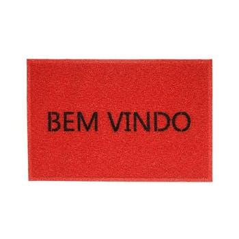 Capacho BEM-VINDO VINIL - VERMELHO - Kapazi - 01731002 - Unitário