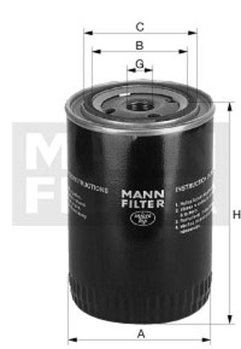 Filtro de Óleo Lubrificante - Mann-Filter - W 712/22 - Unitário