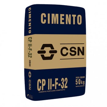 Cimento para Uso Geral CPII F 32 50 Kg - CSN - CPII-F-32-SC-V - Unitário