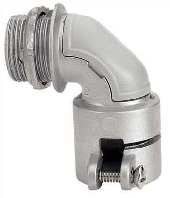 """Conector Alumínio Box Curvo 1"""" com Arruela 56128/003 - Tramontina - 56128/003 - Unitário"""