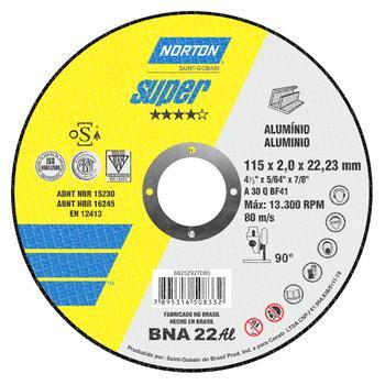 Disco de corte BNA 22 - 115x2,0x22,23mm - Norton - 66252927080 - Unitário