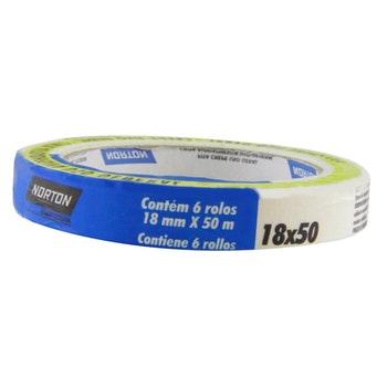 Fita Crepe uso geral sleeve 18mmx50m - Norton - 05539544868 - Unitário