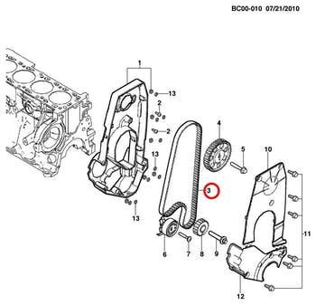 Correia Dentada - Original Chevrolet - 90531677 - Unitário
