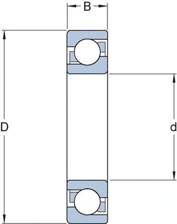 Rolamento de Esferas de Contato Angular - SKF - 7305 BECBM - Unitário