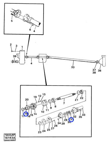 Porca Sextavada - Volvo CE - 943805 - Unitário