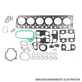Jogo de Juntas do Motor - Completo - Com Anéis de Camisa - Sabó - 80277 - Jogo