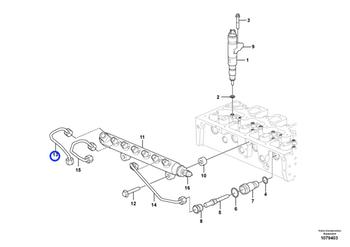 Tubo de Pressão - Volvo CE - 21791960 - Unitário