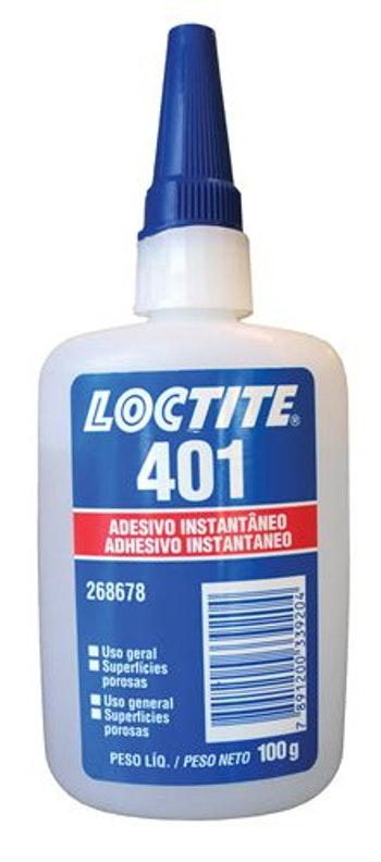 Adesivo Instantâneo 401 100g - Loctite - 268678 - Unitário