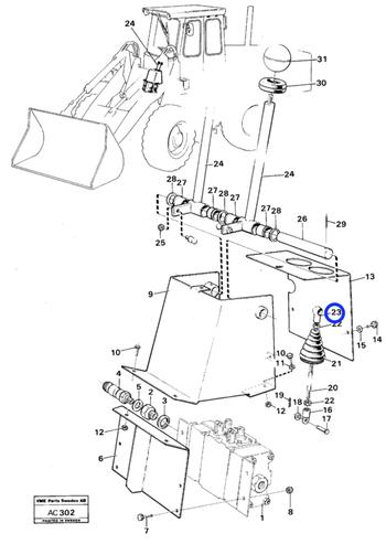 Rótula Angular - Volvo CE - 959079 - Unitário