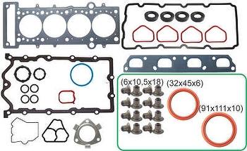 Junta do Motor Com Retentor - Bastos Juntas - 141087MLR - Unitário