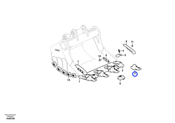 Dente - 125ARXE - Volvo CE - 14624421 - Unitário