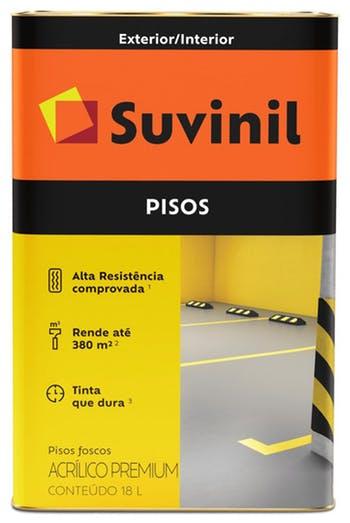 Tinta para Piso Fosco Cinza Escuro 18L - Suvinil - 53419268 - Unitário