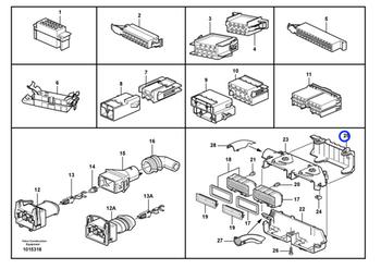 Manopla da Caixa de Conector - Volvo CE - 3199185 - Unitário