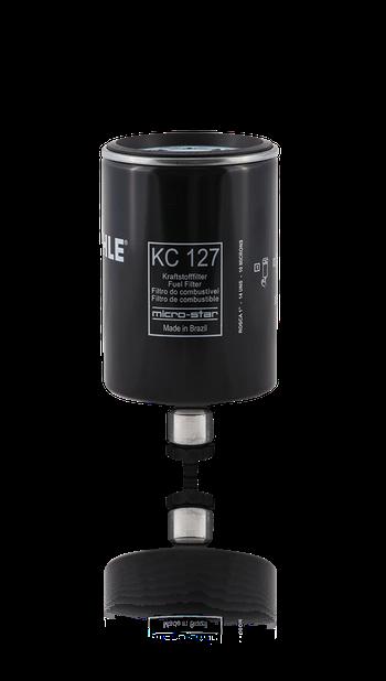 Filtro Blindado de Combustível - MAHLE - KC127 - Unitário