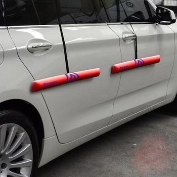 protetor de porta magnético para carros proteporta vermelho par