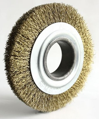 Escova Circular Latonada 150x13mm Fio 0,40mm 6000Rpm - Abrasfer - T.7000-150X13 - Unitário