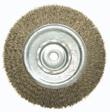 Escova Circular Latonada 150x19mm F13 Fio 0,40mm 6000RPM - Abrasfer - T.7000-150X19 - Unitário