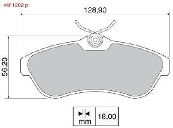 Pastilha de Freio - Nakata - NKF 1202P - Jogo