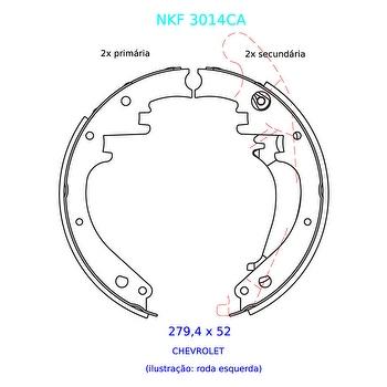 Sapata de Freio - Nakata - NKF 3014CA - Par