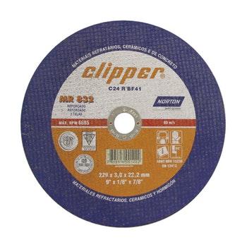 Disco de corte Clipper MR832 - 180x3,0x22,23mm - Norton - 66252899868 - Unitário