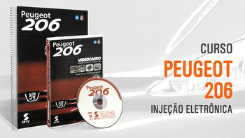 Curso - Injeção Eletrônica - Peugeot 206 - Módulo 26 - VIDEOCARRO - 11.10.01.215 - Unitário