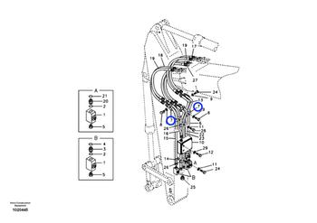 Abraçadeira do Sistema Hidráulico - Volvo CE - 14881247 - Unitário