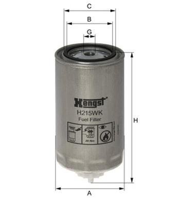 Filtro de Combustível - Hengst - H215WK - Unitário