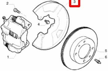 Espelho de Roda Dianteiro Esquerdo - Original Fiat - 46754180 - Unitário