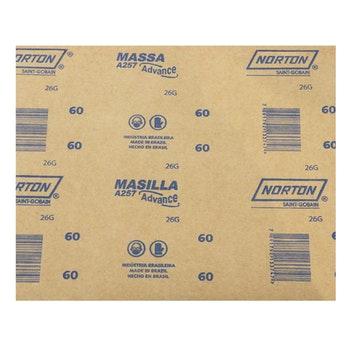Folha de lixa massa A257 grão 60 - Norton - 69957385064 - Unitário