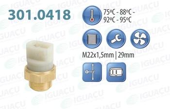 Interruptor Térmico do Radiador - Iguaçu - 301.0418-95 - Unitário