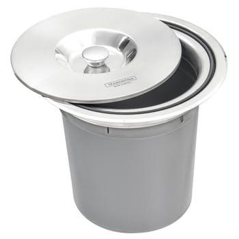 Lixeira de Embutir em Aço Inox com Balde Plástico Tramontina Clean Round 5L - Tramontina - 94518005 - Unitário