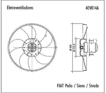Eletroventilador - Valeo - 4EV014A - Unitário