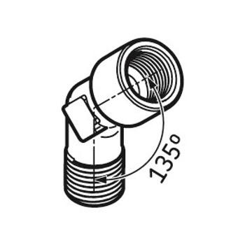 Conexão angular de 45° - SKF - LAPA 45 - Unitário