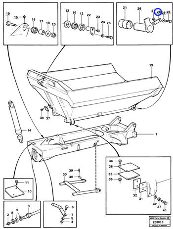 Ancoragem do Quadro da Articulação Traseira - Volvo CE - 4941392 - Unitário
