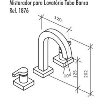 Misturador de Lavatório para Bancada com Tubo Alto Creato Cromado - Fabrimar - 56509 - Unitário