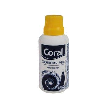 Corante Líquido À Base de Água Amarelo 50ml - Coral - 5202607 - Unitário